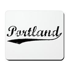 Vintage Portland (Black) Mousepad