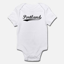 Vintage Portland (Black) Infant Bodysuit