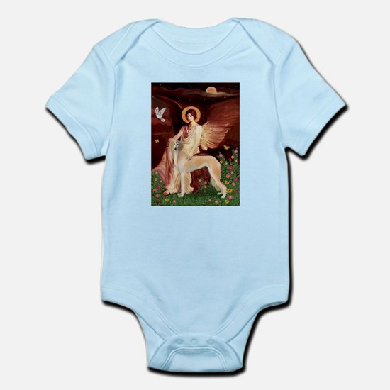 Seated Angel with a Saluki Infant Bodysuit