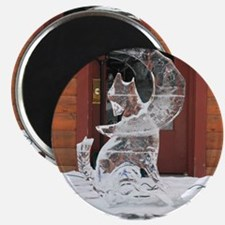 "Ice Sculpture Howling Wolf 2.25"" Magnet (10 pack)"