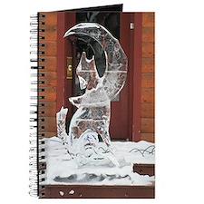 Ice Sculpture Howling Wolf Journal
