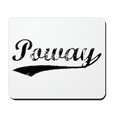 Vintage Poway (Black) Mousepad