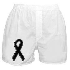 Black Awareness Ribbon Boxer Shorts