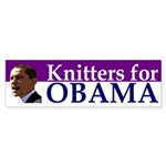Knitters for Obama bumper sticker