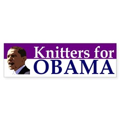 Knitters for Obama bumper sticker