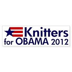 Knitters for Obama 2012 bumper sticker