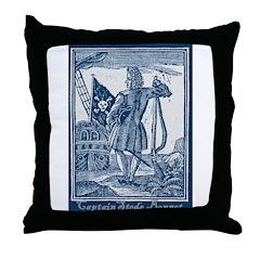 Stede Bonnet Pirate Throw Pillow