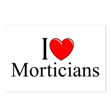 """""""I Love Morticians"""" Postcards (Package of 8)"""