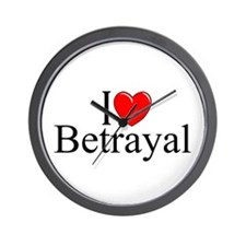"""I Love Betrayal"" Wall Clock"