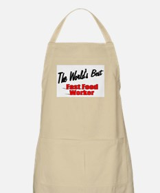"""""""The World's Best Fast Food Worker"""" BBQ Apron"""