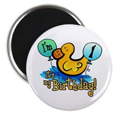 Ducky Birthday 1st Magnet