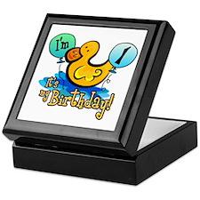 Ducky Birthday 1st Keepsake Box