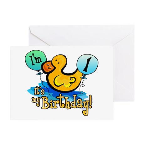 Ducky Birthday 1st Greeting Card