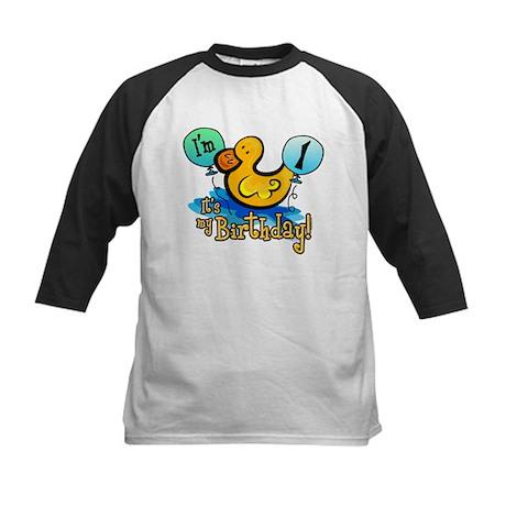 Ducky Birthday 1st Kids Baseball Jersey