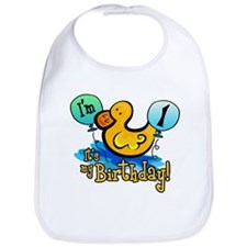 Ducky Birthday 1st Bib