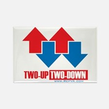 2 up 2 down Arrows Rectangle Magnet