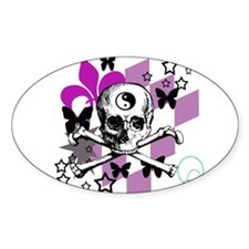 Chick Skull Oval Decal