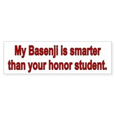 Basenji is Smarter Bumper Bumper Sticker