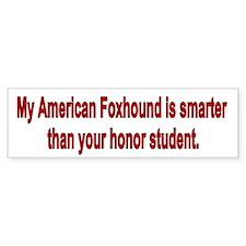 American Foxhound is Smarter Bumper Car Sticker