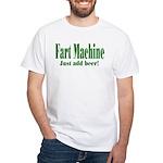 Fart Machine Green White T-Shirt