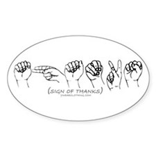 Sign of Thanks Oval Decal