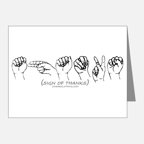 Sign of Thanks Note Cards (Pk of 20)