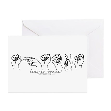 Sign of Thanks Greeting Cards (Pk of 20)