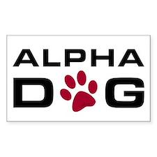 Alpha Dog Rectangle Decal