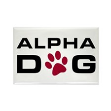 Alpha Dog Rectangle Magnet