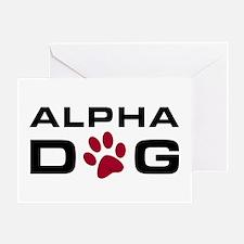 Alpha Dog Greeting Card