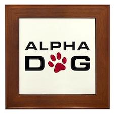 Alpha Dog Framed Tile