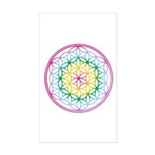 Flower of Life Rectangle Stickers