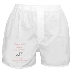 Dog Pawprints On The Heart Boxer Shorts