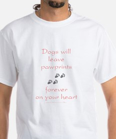 Dog Pawprints On The Heart Shirt