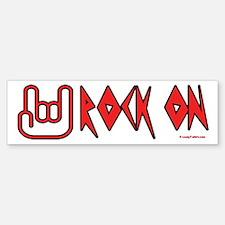 Rock On Bumper Car Car Sticker