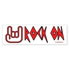 Rock On Bumper Car Sticker