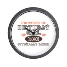 Property of 21st Birthday Girl Wall Clock