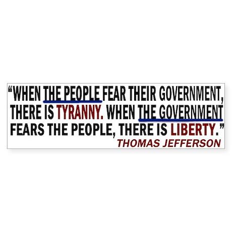 Fear the People Bumper Sticker