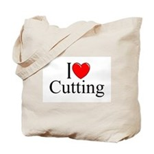 """I Love Cutting"" Tote Bag"