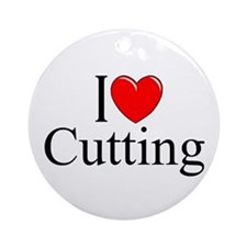 """I Love Cutting"" Ornament (Round)"