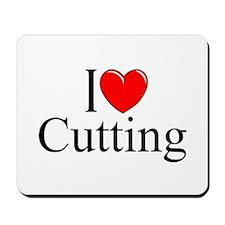 """I Love Cutting"" Mousepad"