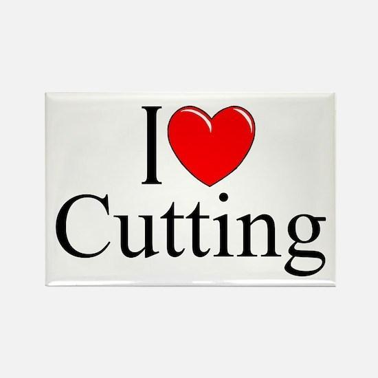 """I Love Cutting"" Rectangle Magnet"