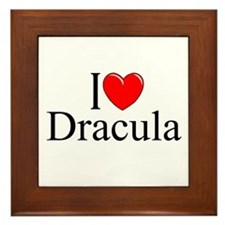 """I Love Dracula"" Framed Tile"