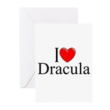 """I Love Dracula"" Greeting Cards (Pk of 10)"