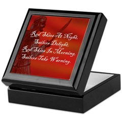 Red Skies At Night, Buccaneer Keepsake Box