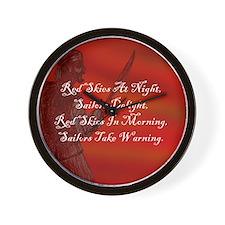 Red Skies At Night, Buccaneer Wall Clock