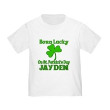 Personalized for JAYDEN Born Lucky T