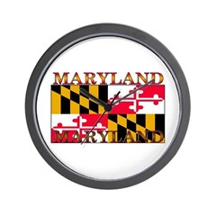 Maryland State Flag Wall Clock