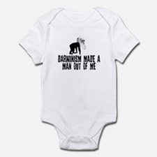 Darwinism made a man out of me Infant Bodysuit