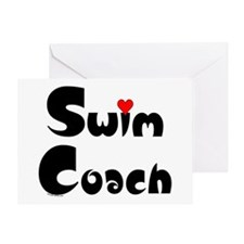 Swim Coach Heart Greeting Card